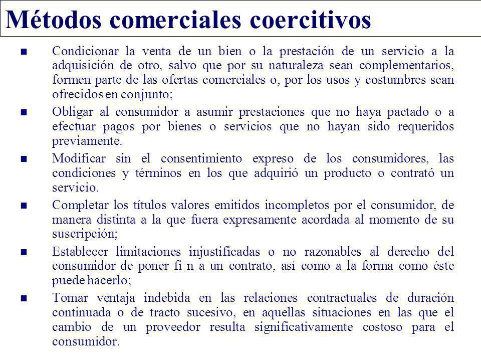 Métodos comerciales coercitivos