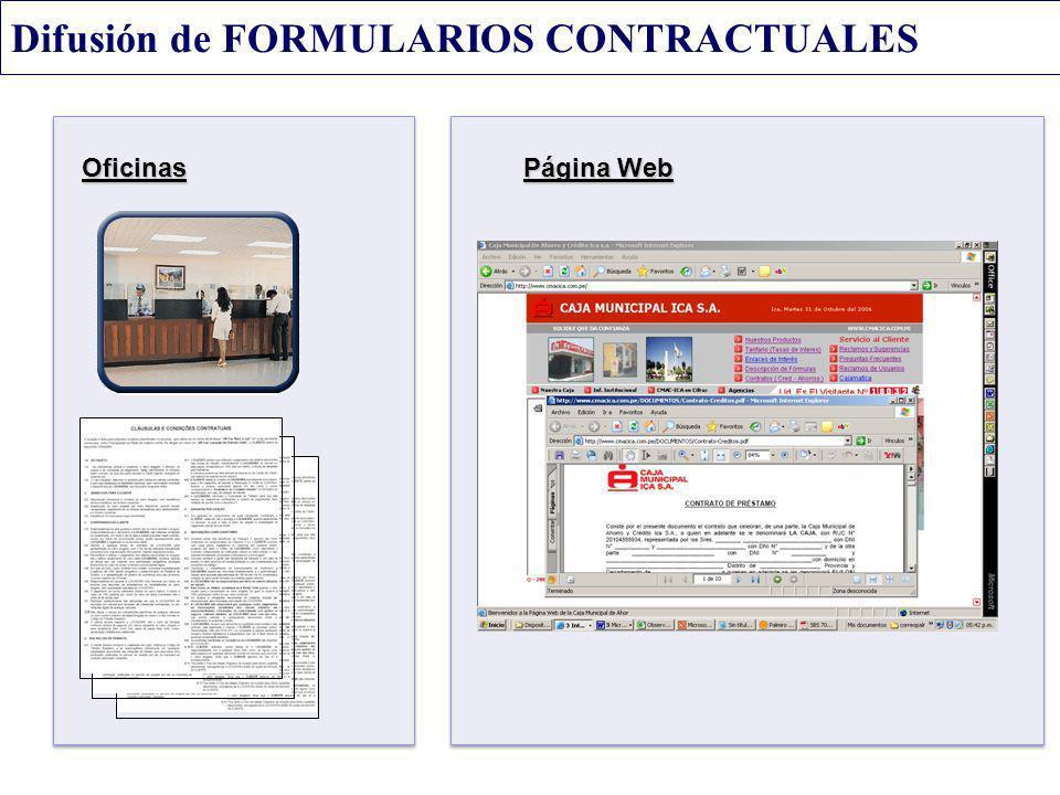 Difusión de FORMULARIOS CONTRACTUALES