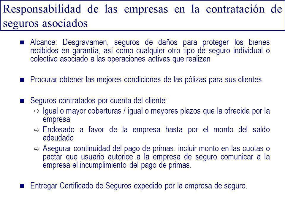 Responsabilidad de las empresas en la contratación de seguros asociados