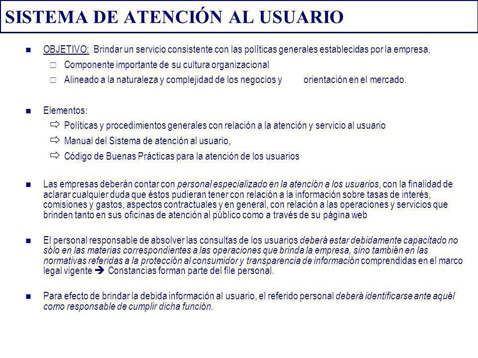 SISTEMA DE ATENCIÓN AL USUARIO
