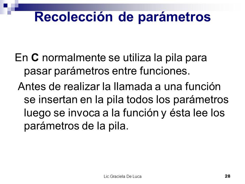 Recolección de parámetros