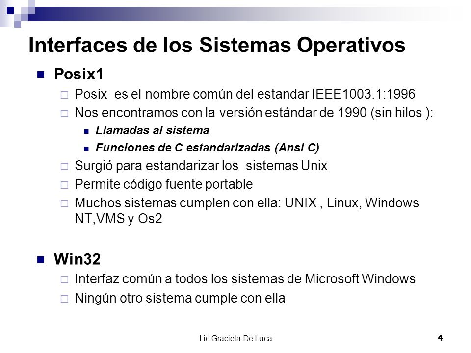 Interfaces de los Sistemas Operativos
