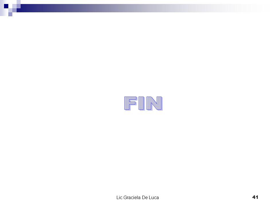 FIN Lic.Graciela De Luca