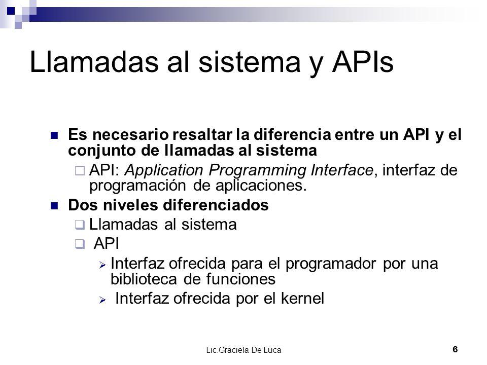 Llamadas al sistema y APIs