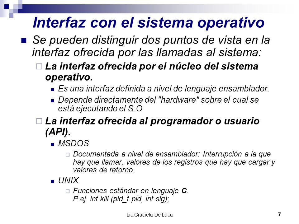 Interfaz con el sistema operativo