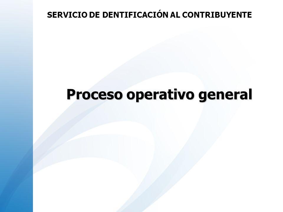 Proceso operativo general