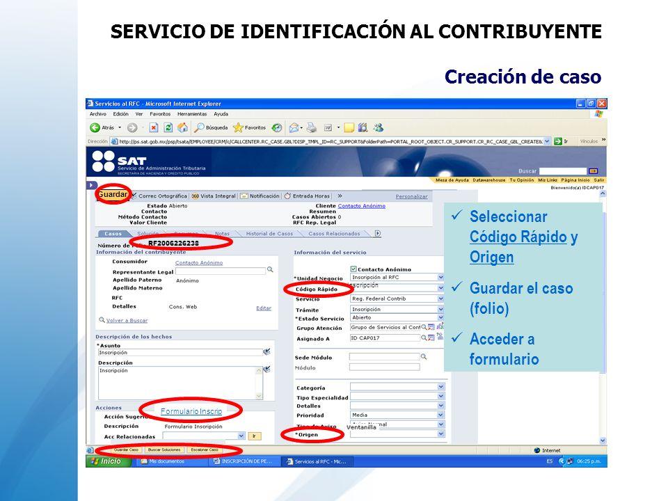SERVICIO DE IDENTIFICACIÓN AL CONTRIBUYENTE