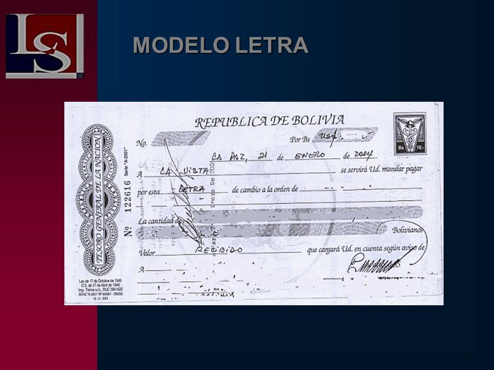 MODELO LETRA