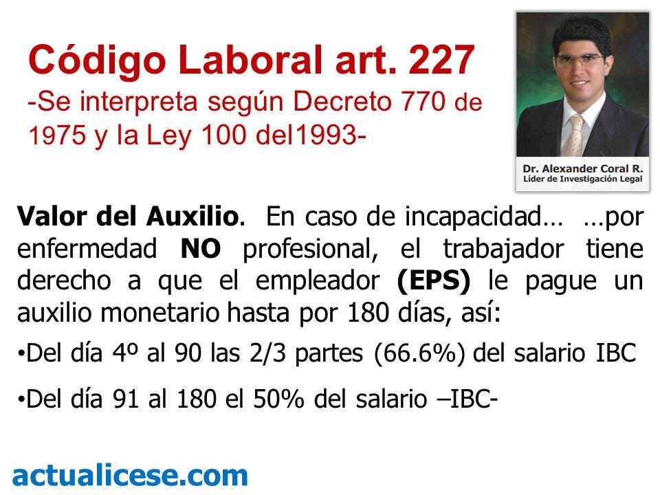 Código Laboral art. 227 actualicese.com