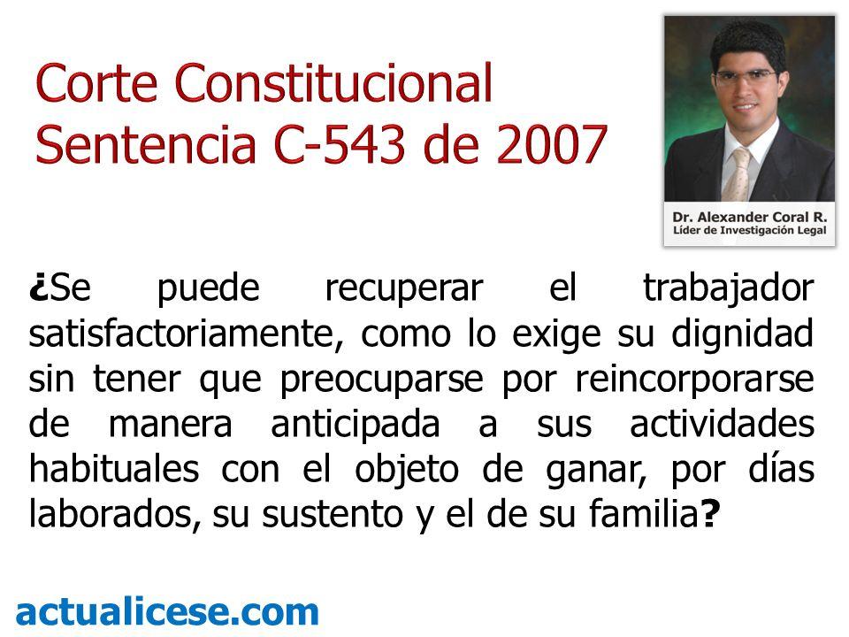Corte Constitucional Sentencia C-543 de 2007