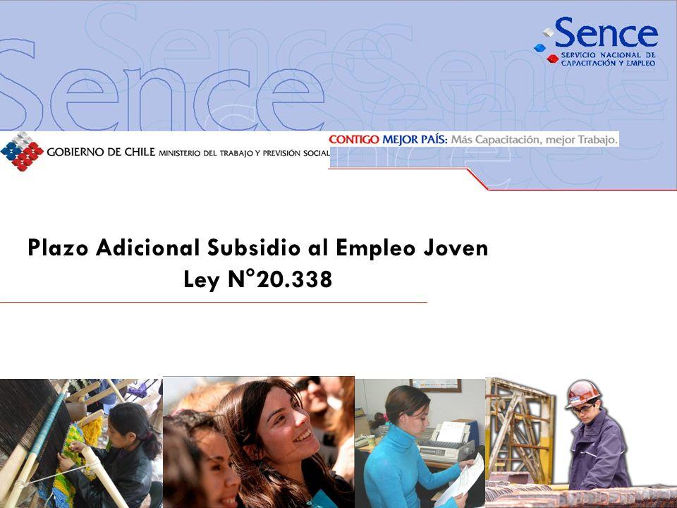 Plazo Adicional Subsidio al Empleo Joven