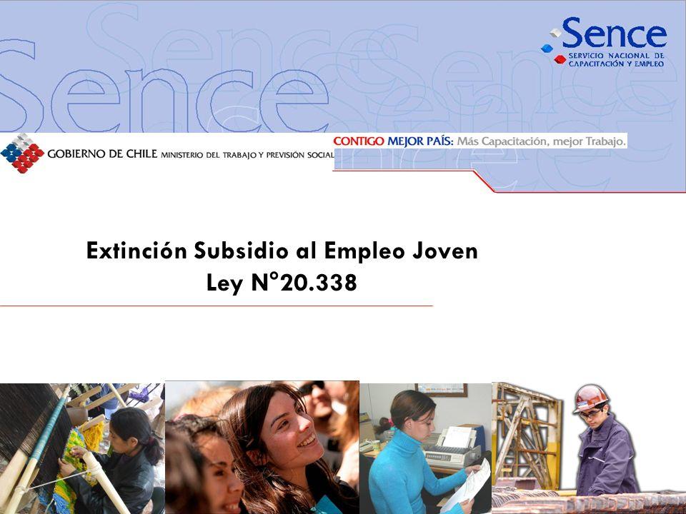 Extinción Subsidio al Empleo Joven