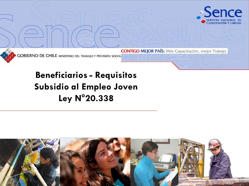 Beneficiarios - Requisitos Subsidio al Empleo Joven