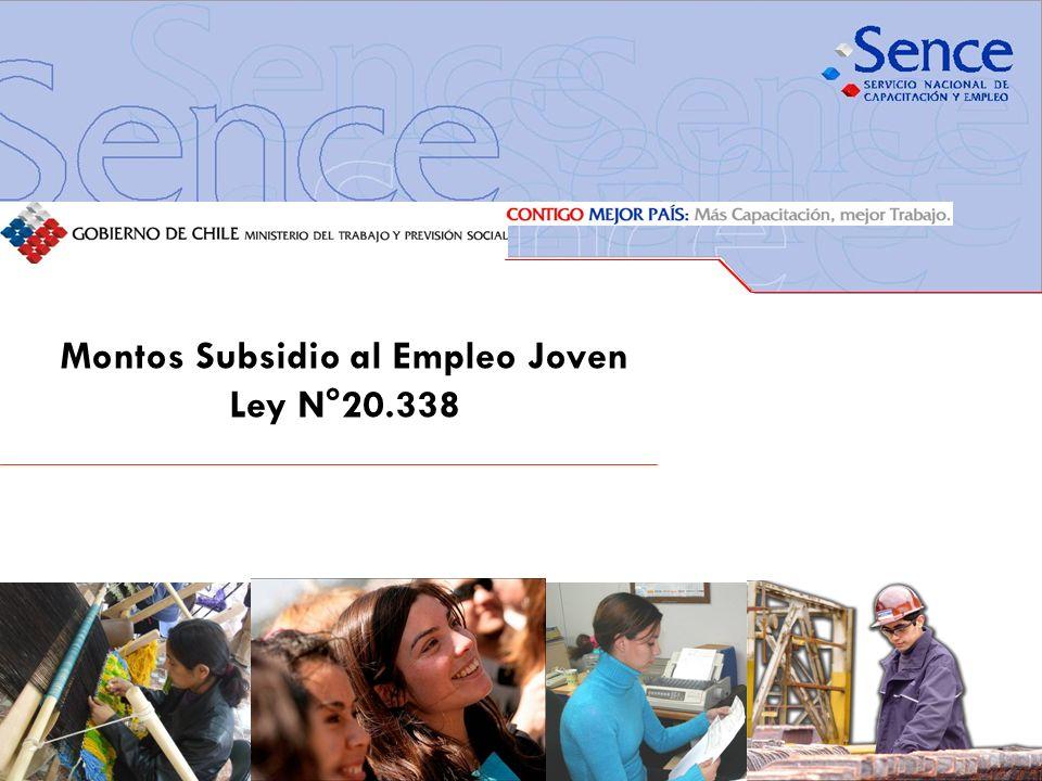 Montos Subsidio al Empleo Joven