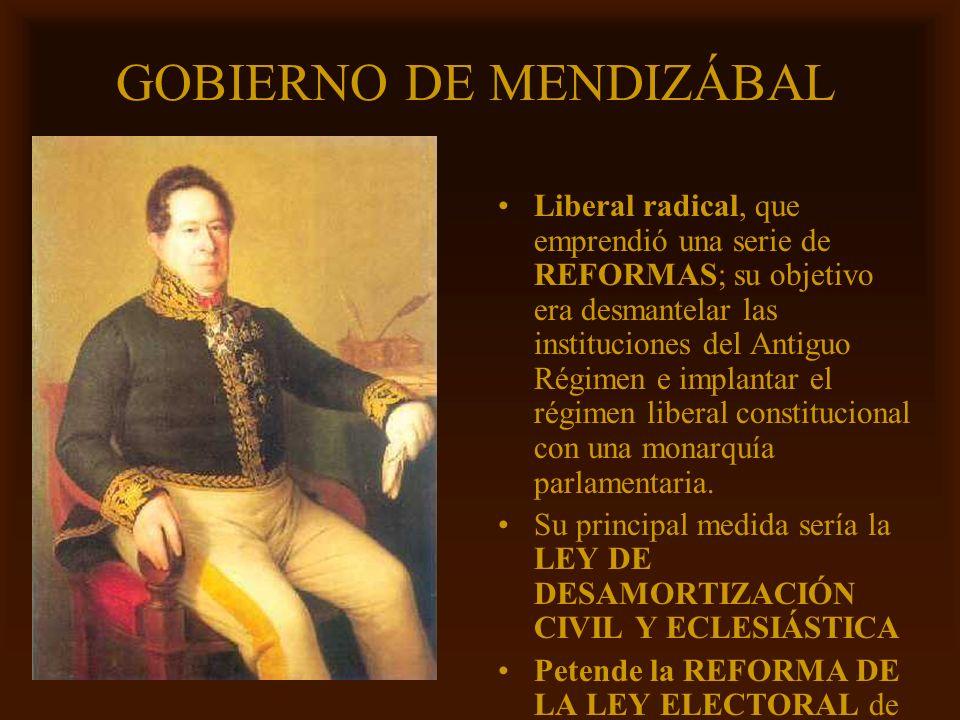 GOBIERNO DE MENDIZÁBAL