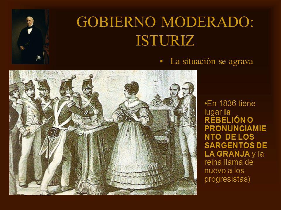 GOBIERNO MODERADO: ISTURIZ