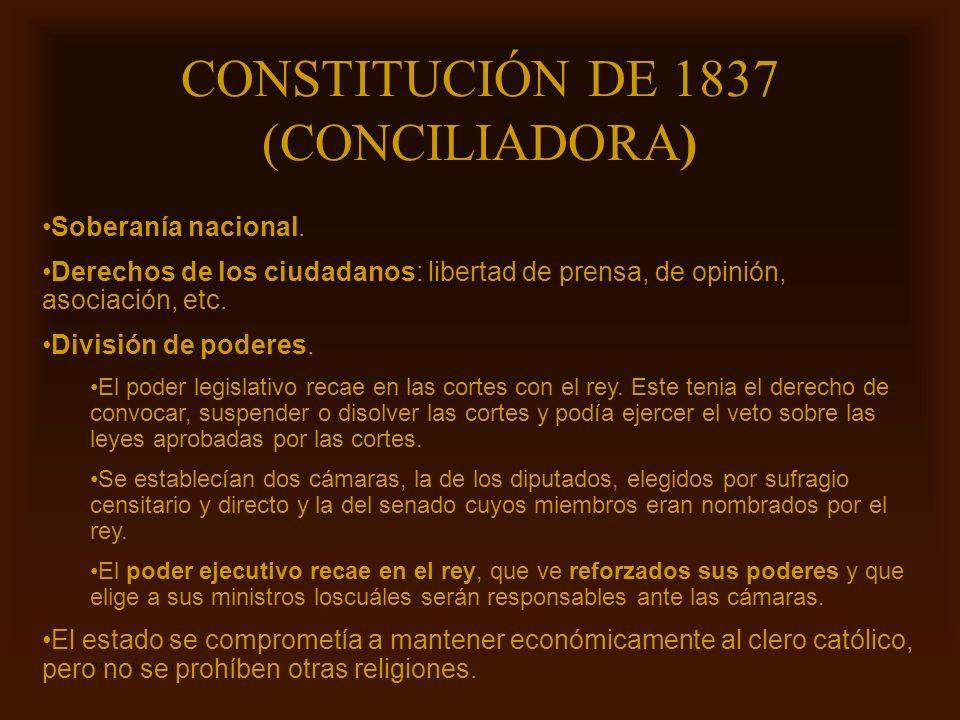 CONSTITUCIÓN DE 1837 (CONCILIADORA)