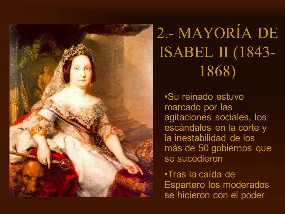 2.- MAYORÍA DE ISABEL II (1843-1868)