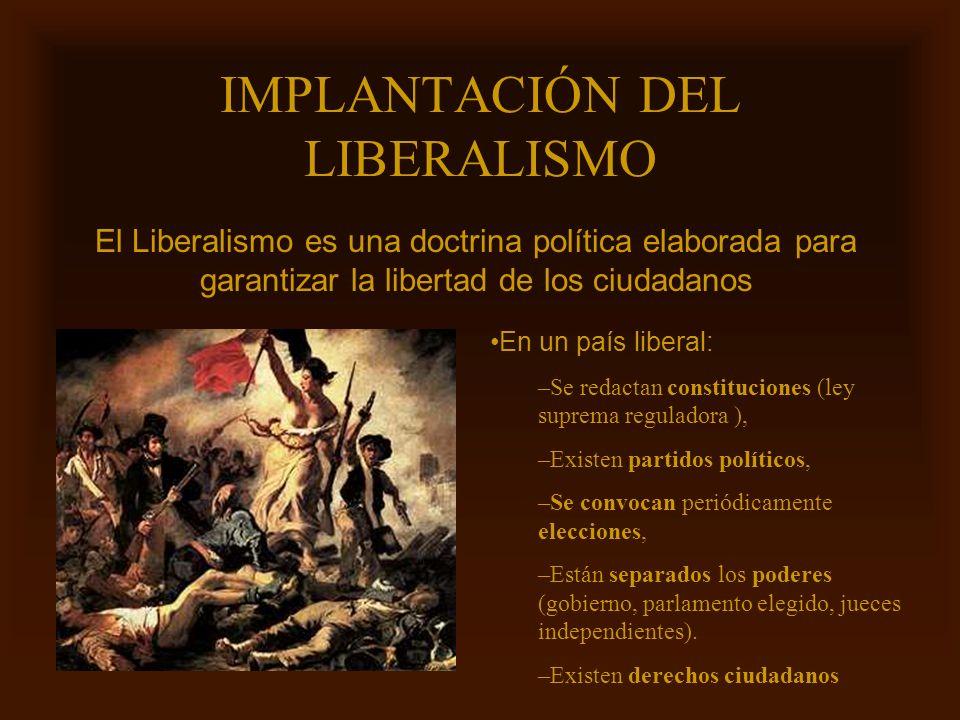 IMPLANTACIÓN DEL LIBERALISMO