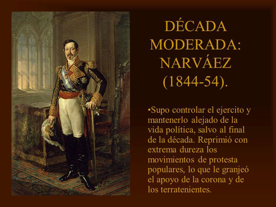 DÉCADA MODERADA: NARVÁEZ (1844-54).