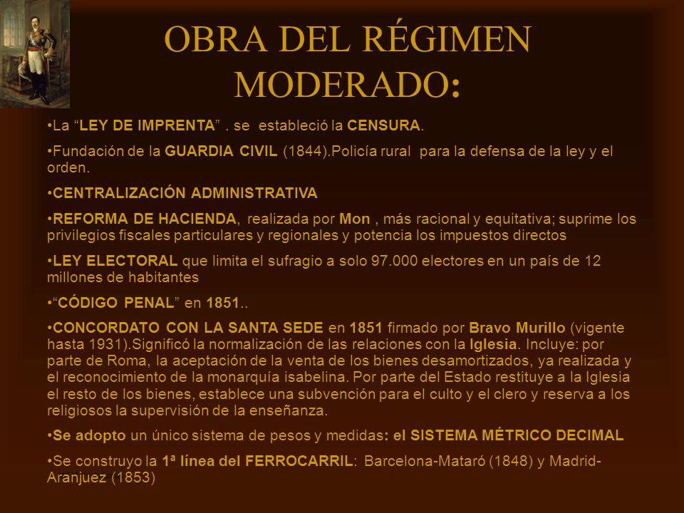 OBRA DEL RÉGIMEN MODERADO: