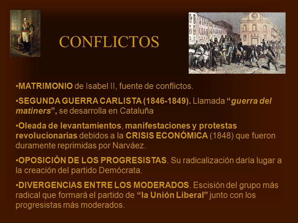 CONFLICTOS MATRIMONIO de Isabel II, fuente de conflictos.