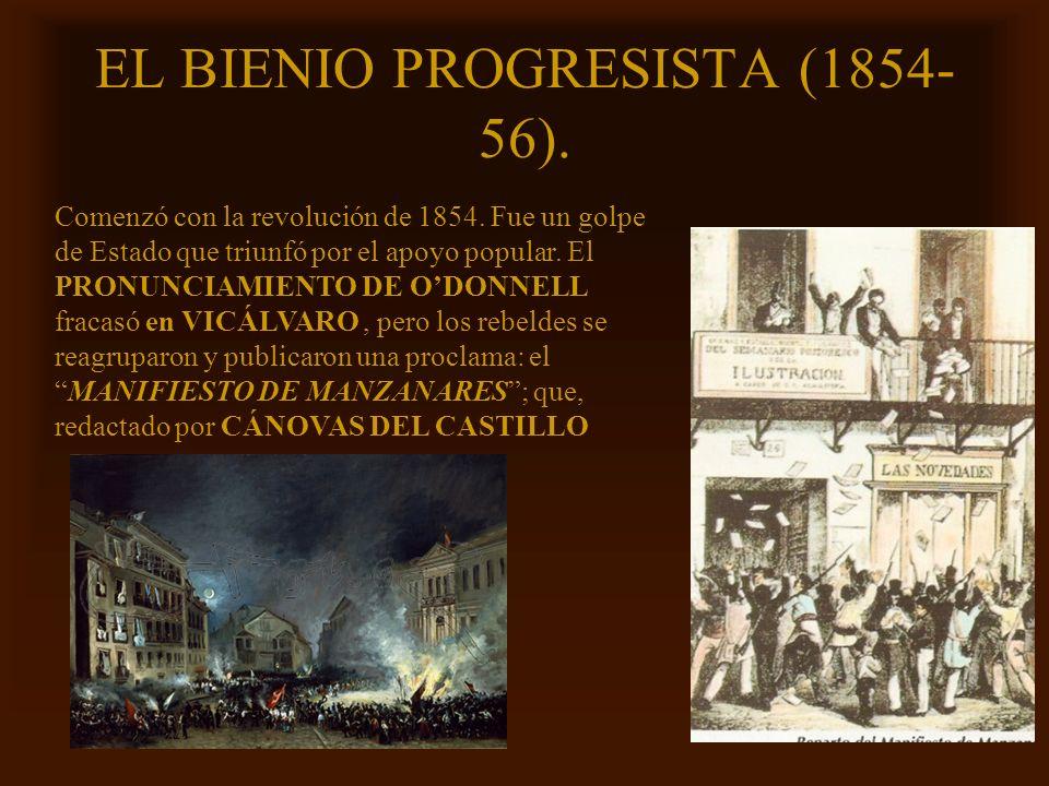 EL BIENIO PROGRESISTA (1854-56).