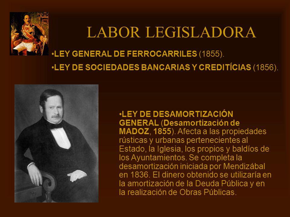 LABOR LEGISLADORA LEY GENERAL DE FERROCARRILES (1855).