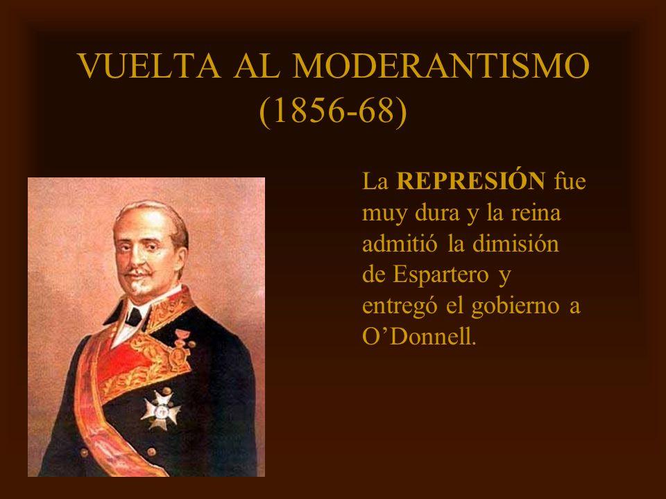 VUELTA AL MODERANTISMO (1856-68)
