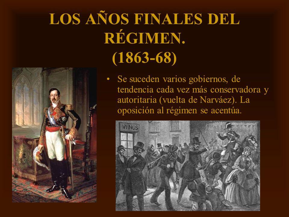 LOS AÑOS FINALES DEL RÉGIMEN. (1863-68)