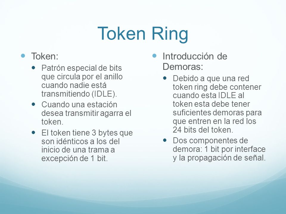 Token Ring Token: Introducción de Demoras: