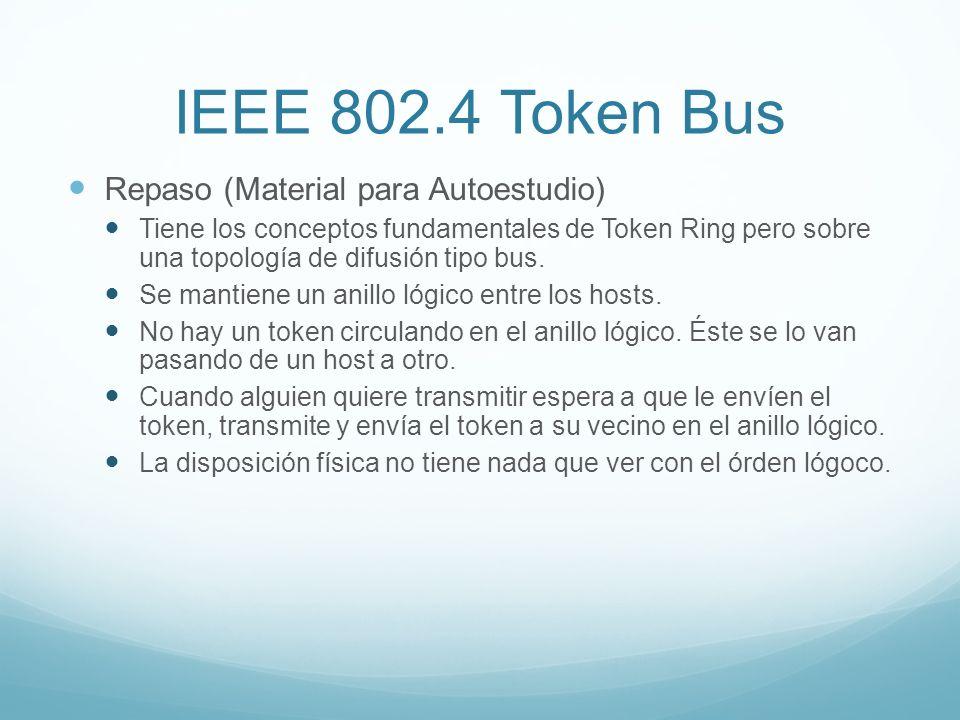 IEEE 802.4 Token Bus Repaso (Material para Autoestudio)