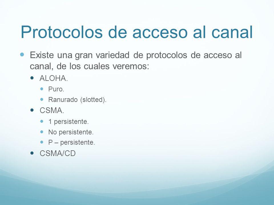 Protocolos de acceso al canal