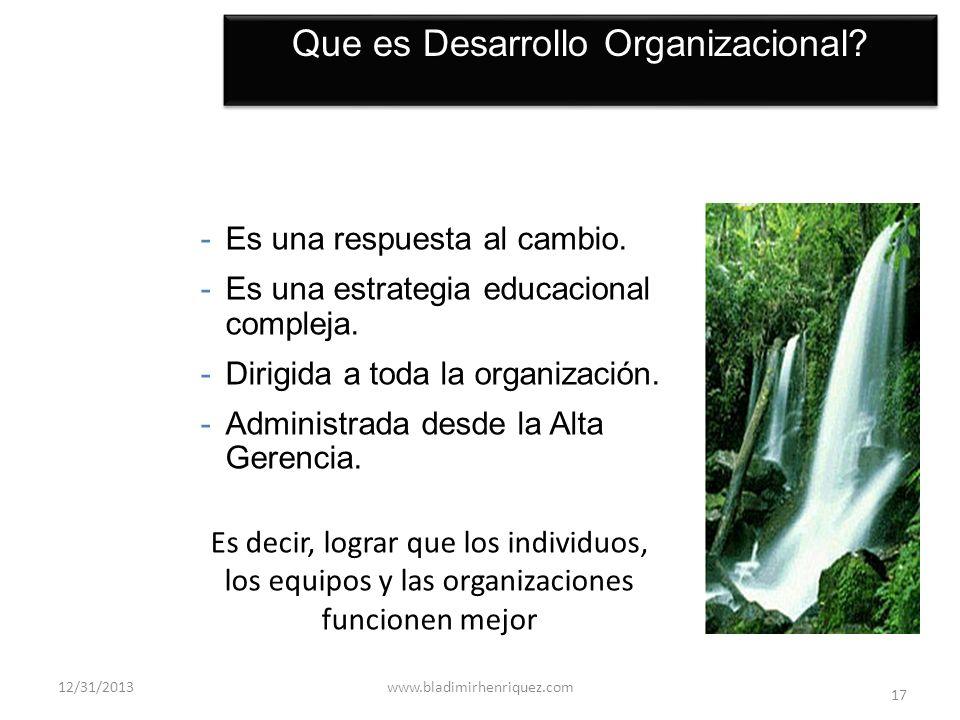 Que es Desarrollo Organizacional