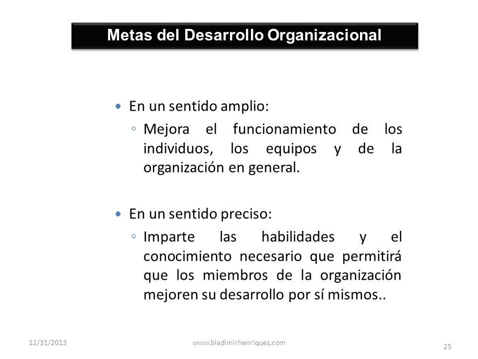 Metas del Desarrollo Organizacional