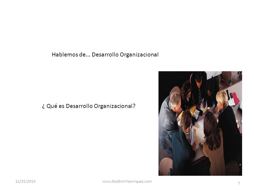 ¿ Qué es Desarrollo Organizacional