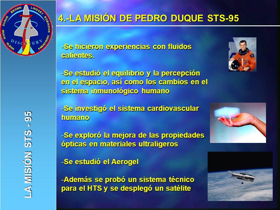 4.-LA MISIÓN DE PEDRO DUQUE STS-95