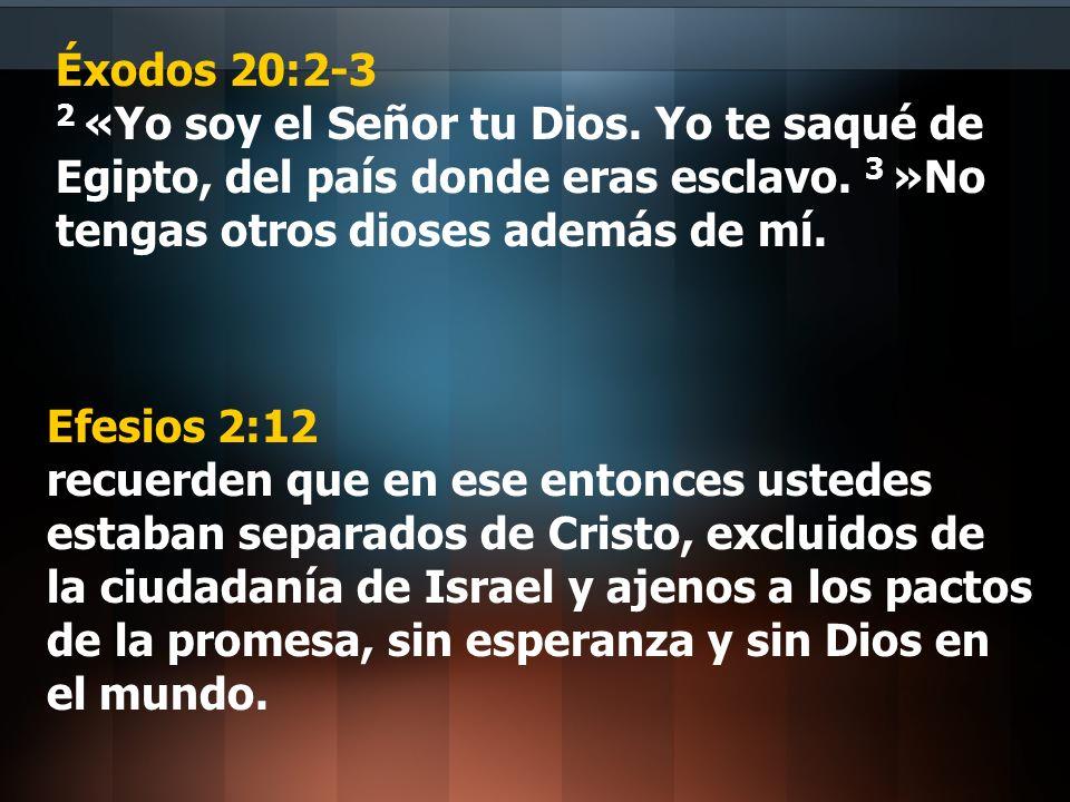 Éxodos 20:2-3 2 «Yo soy el Señor tu Dios