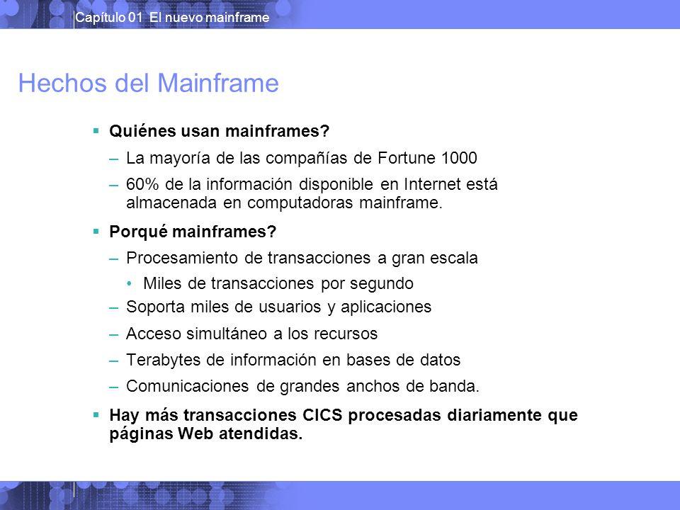 Hechos del Mainframe Quiénes usan mainframes