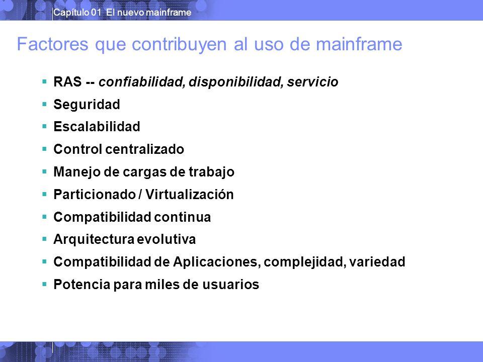 Factores que contribuyen al uso de mainframe