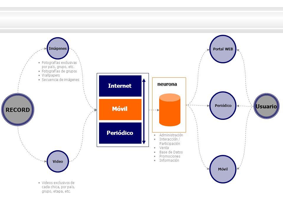 Internet Usuario RECORD Móvil Periódico neurona Portal WEB Imágenes