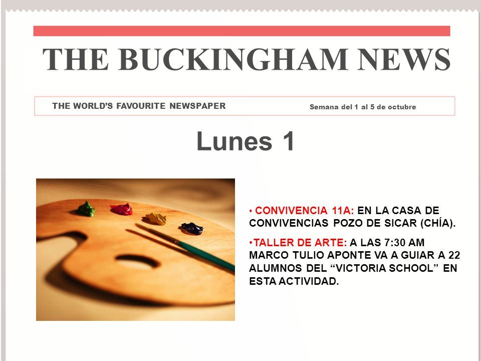 THE BUCKINGHAM NEWS Lunes 1