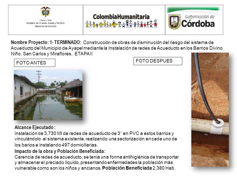 Libertad y Orden Ministerio de Vivienda, Ciudad y Territorio. República de Colombia. LOGO ENTIDAD TERRITORIAL.