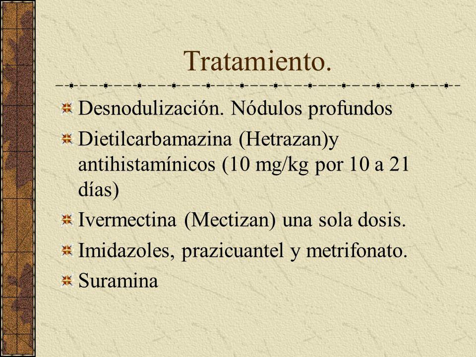 Tratamiento. Desnodulización. Nódulos profundos
