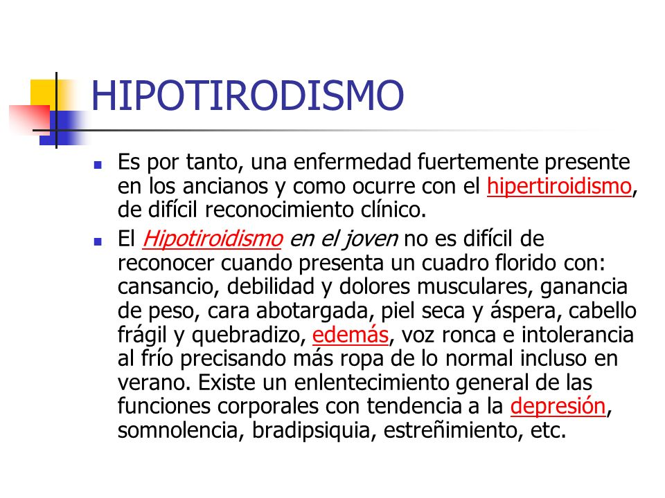 HIPOTIRODISMO