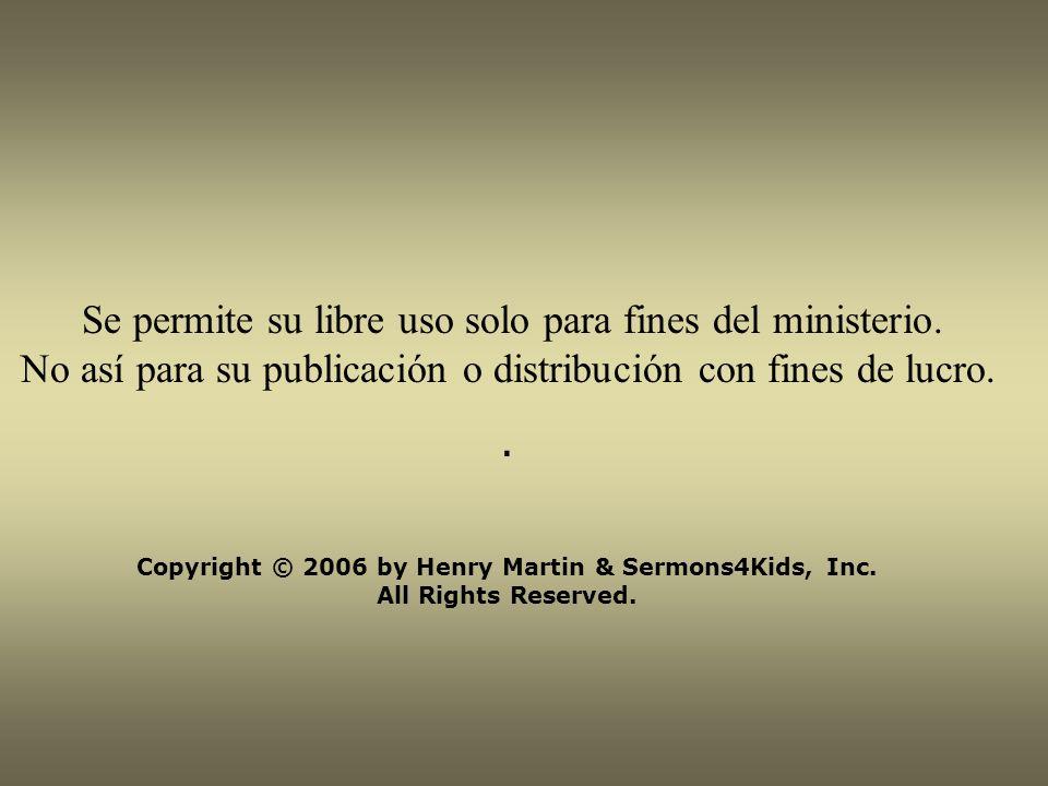 Se permite su libre uso solo para fines del ministerio.
