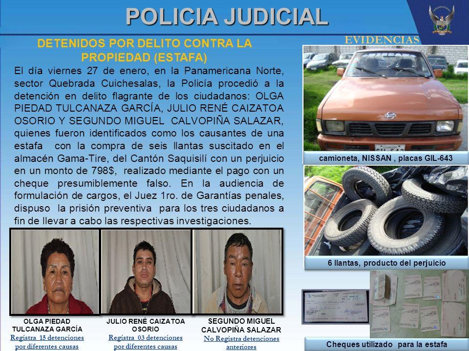 POLICIA JUDICIAL EVIDENCIAS