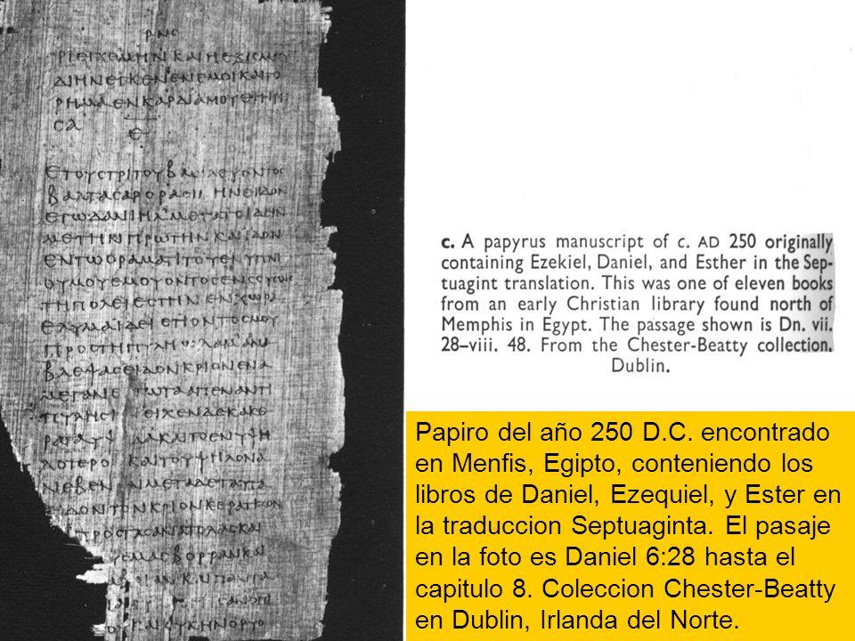 Papiro del año 250 D.C.
