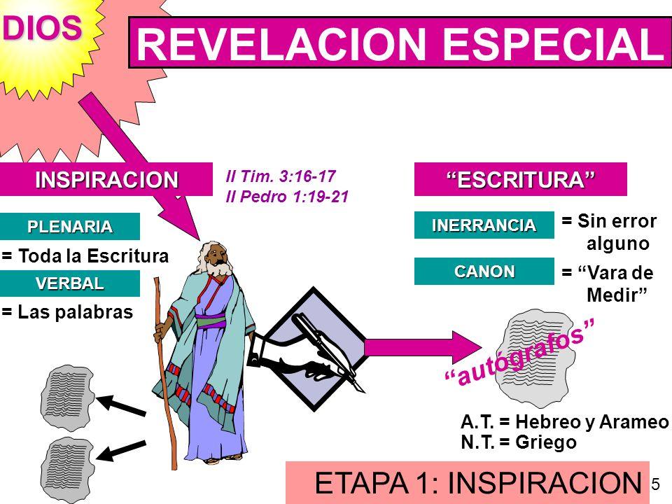 REVELACION ESPECIAL DIOS ETAPA 1: INSPIRACION autógrafos INSPIRACION