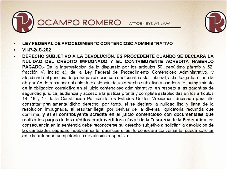 LEY FEDERAL DE PROCEDIMIENTO CONTENCIOSO ADMINISTRATIVO